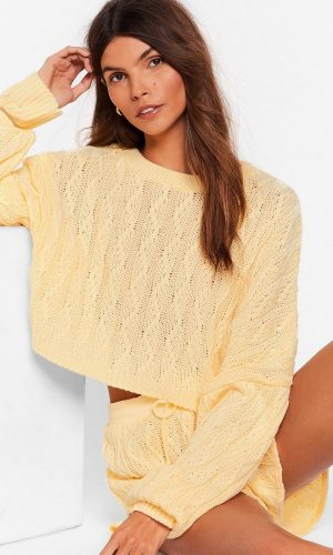 lemon-got-cable-knit-sweater-and-shorts-lounge-set